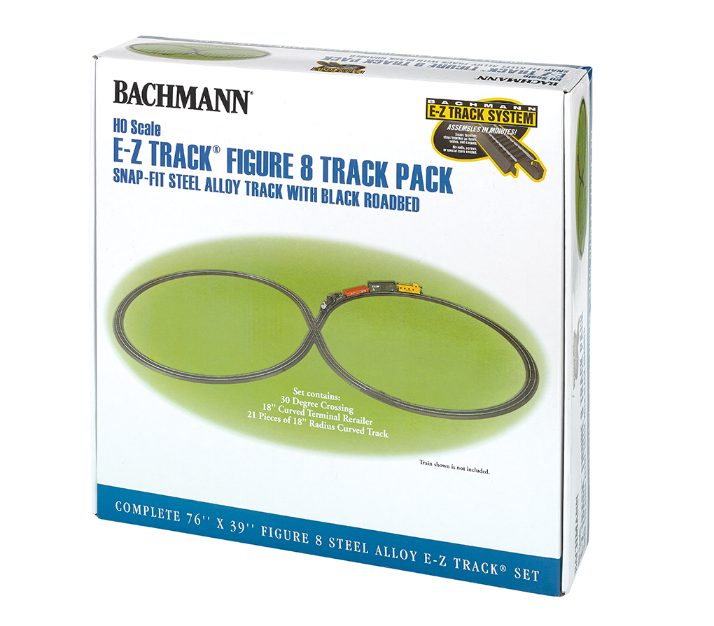 Steel Alloy E-Z TRACK® Figure 8 Track Pack (HO Scale)