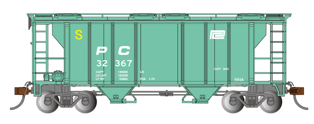 Penn Central - PS-2 Covered Hopper