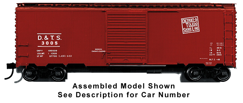 40ft AAR Boxcar Kit - Detroit Toledo Shore Line Car No. 3005
