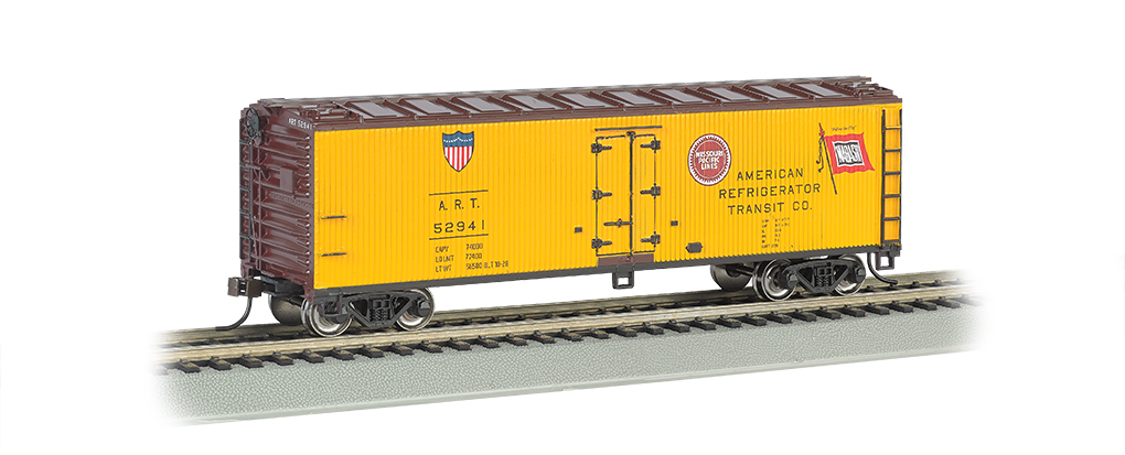 Amer. Refrigerator Transit -40' Wood-side Refrigerated Box Car