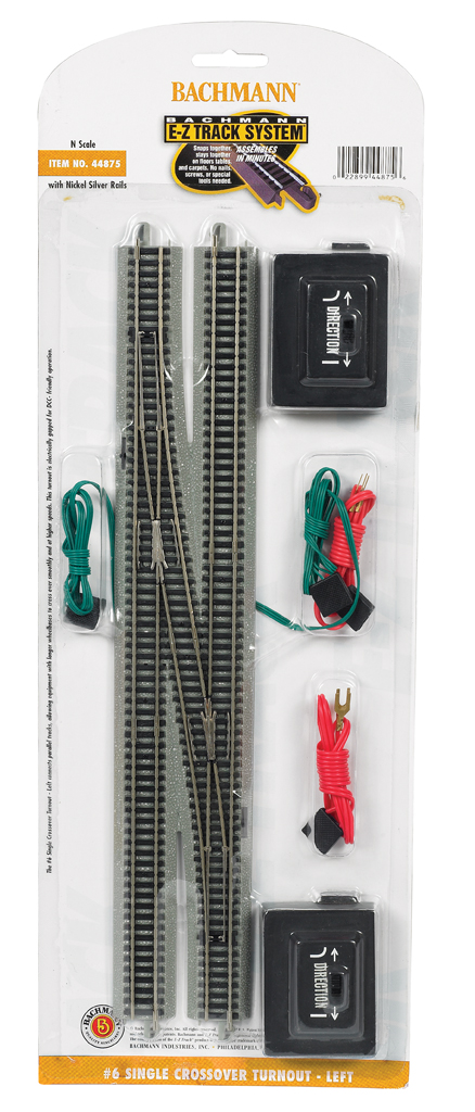 #6 Single Crossover Turnout - Left (N Scale)