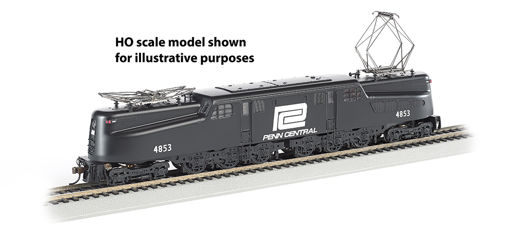Penn Central GG-1 #4853 – Black & White DCC Sound (N Scale)