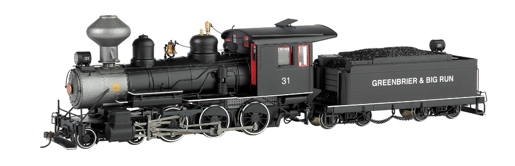 Greenbrier & Big Run Lumber Co. #31 W/Steel Cab - 4-6-0 - DCC