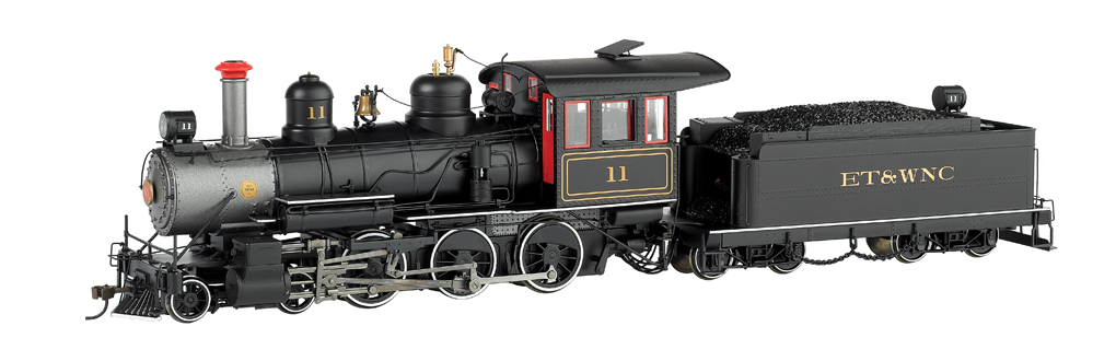 ET&WNC #11 W/Steel Cab (Black W/Red Windows) - 4-6-0 - DCC