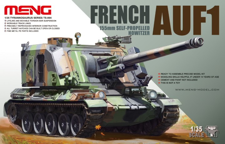 French AUF1 155mm Self-Propelled Howitzer 1/35 Scale